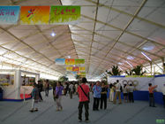 18m White Waterproof Outdoor Exhibition Tents For Car Show / Flowers Show