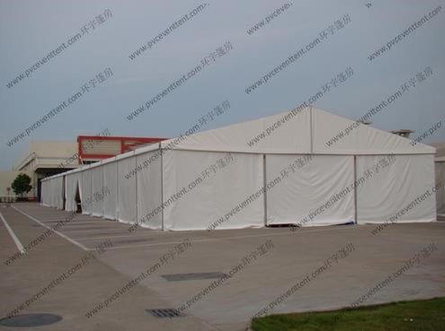 Transparent Temporary Storage Tents 25 x 100m Alumunium PVC Or Sandwich Panel Sidewalls