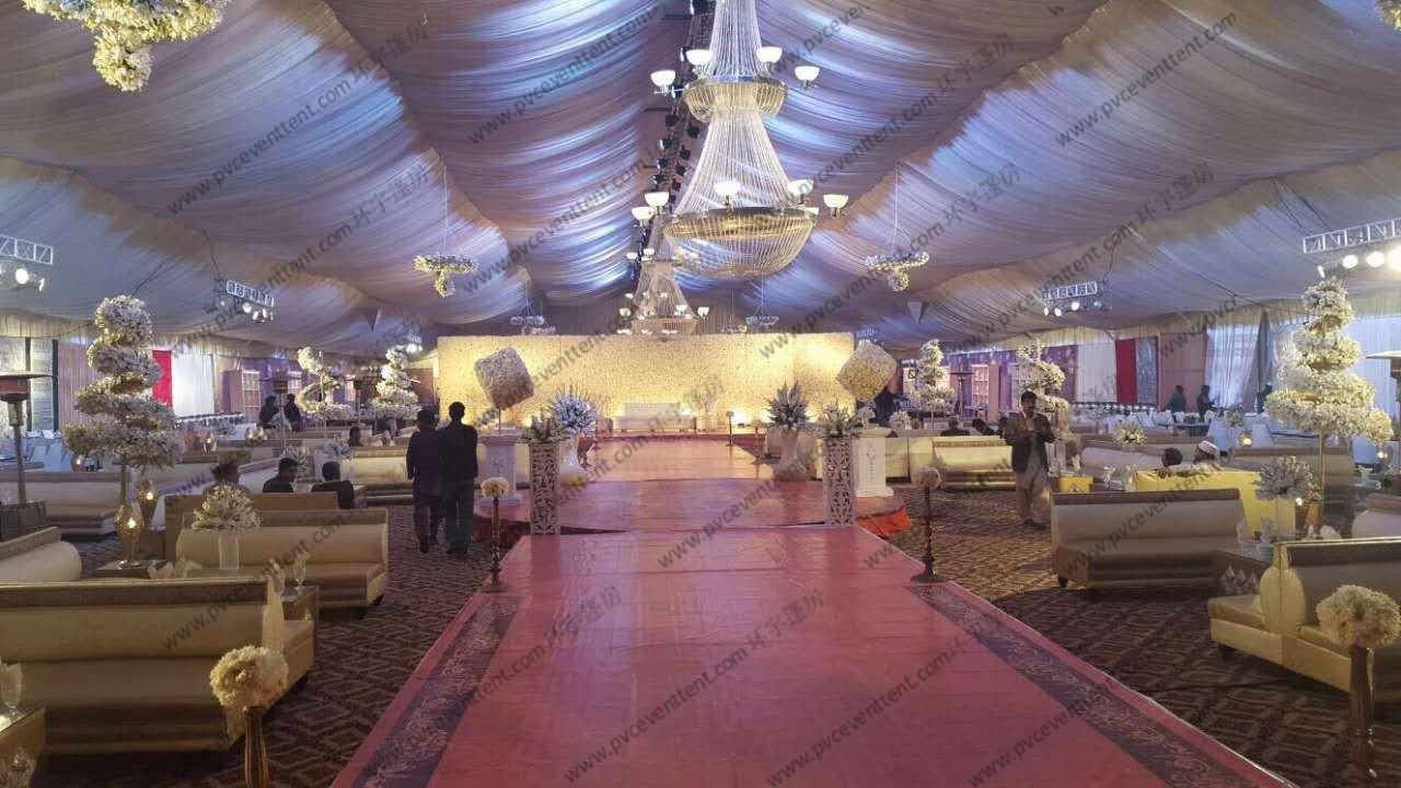 Outdoor Luxury Wedding Event Tents Unique Decoration For Wedding Ceremony