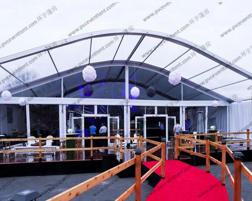 Ceremony / Celebration Party Arch Curved Tent Luxury Aluminum Alloy With Eave