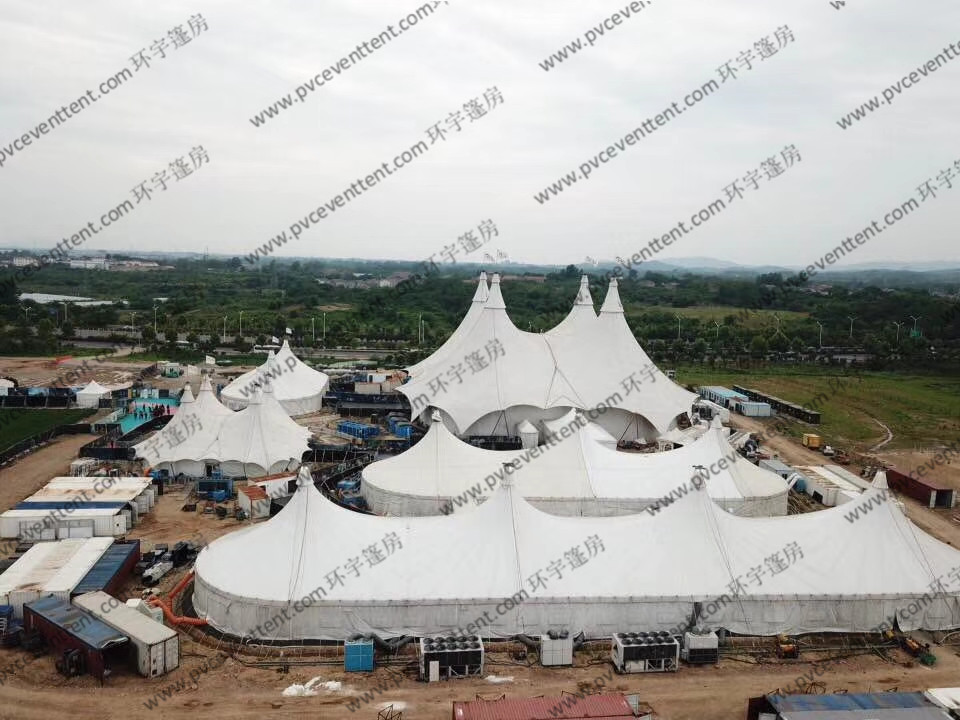 Luxury White Membrance Structure Outdoor Circus Tent In Shopping Center / Mall / Plaza
