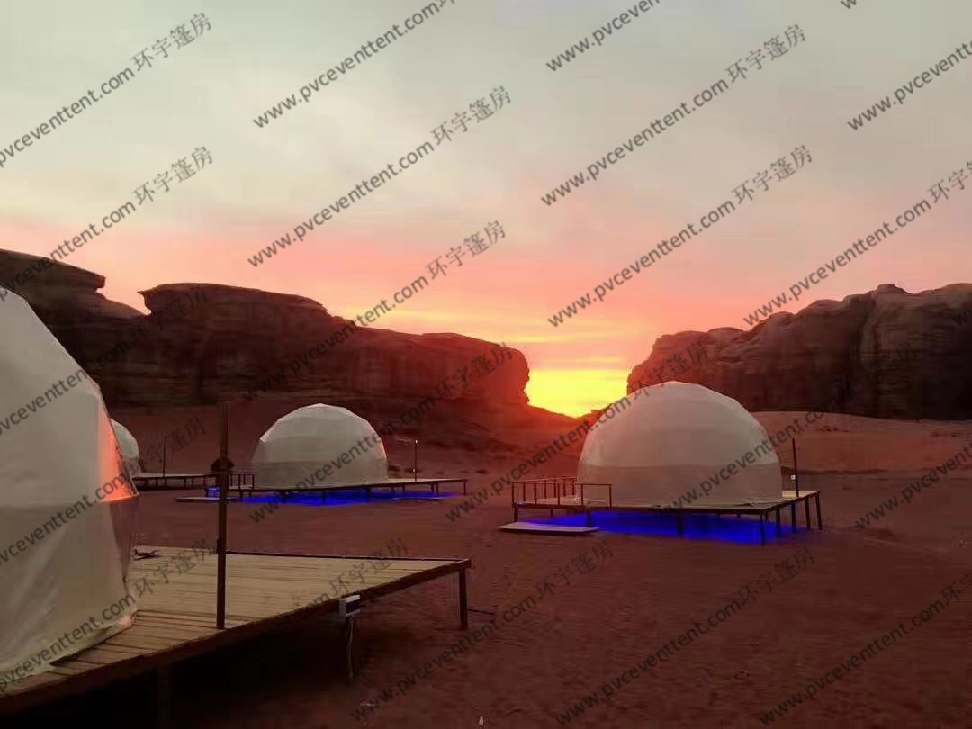 Half Sphere Large Geodesic Dome Tent As Hotels or for Camping Event